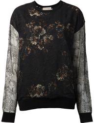 Jason Wu - Lace Floral Sweatshirt - Lyst