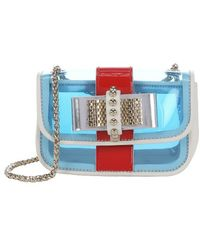 Christian Louboutin Blue And White Pvc 'Sweet Charity' Mini Shoulder Bag blue - Lyst