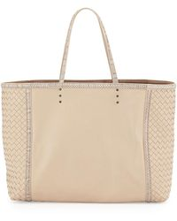 Bottega Veneta Mixed-Leather Large Tote Bag - Lyst