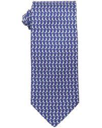 Ferragamo Marine And Red Fish Print Silk Tie - Lyst