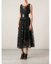Theyskens' Theory Embellished Sheer Panel Dress - Lyst