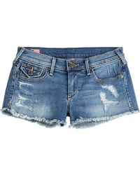 True Religion - Joey Cut-off Denim Shorts - Blue - Lyst