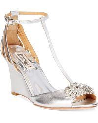 Badgley Mischka Milly Ii Wedge Evening Sandals - Lyst