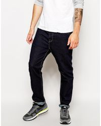 Asos Tapered Jeans In Indigo - Lyst