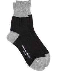 Comme des Garçons - Black Socks with Silver Metallic Accents - Lyst