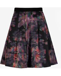 Ted Baker Holographic Halftone Skirt - Lyst