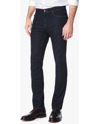 7 For All Mankind | Foolproof Denim: Slimmy Slim Straight In Classic Indigo | Lyst