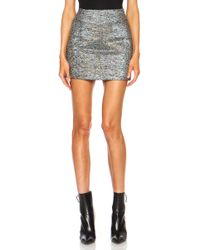 Rodarte Embroidered Wool Jacquard Mini Skirt - Lyst