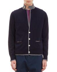 Sacai Blue Cardigan Jacket - Lyst