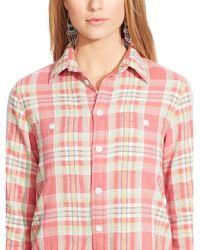 Ralph Lauren Plaid Cotton Workshirt - Lyst