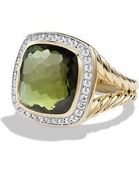 David Yurman Albion Ring With Diamonds In 18K Gold, 14Mm - Lyst