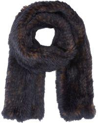 Barneys New York Blue Fur Scarf - Lyst