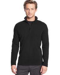 Calvin Klein Quarter-zip Logo Taped Collar Pique Fleece Pullover - Lyst