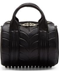 Alexander Wang Black Neoprene_Injected Leather Rockie Duffle Bag - Lyst