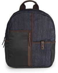 French Connection - Black And Blue Denim Backpack Bag - Lyst