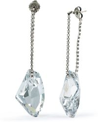 Ralph Lauren Crystal Drop Chain Earrings - Lyst