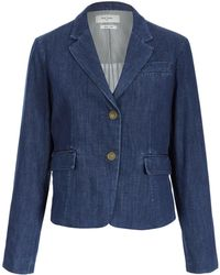 Paul by Paul Smith - Navy Denim Two Button Jacket - Lyst