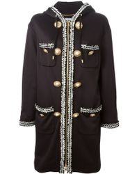 Moschino Hooded Coat - Lyst