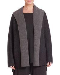 Eileen Fisher | Hooded Knit Cardigan | Lyst