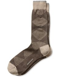 Banana Republic Luxe Mixed Argyle Sock Gardner Brown - Lyst