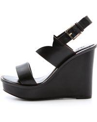Tory Burch Lexington Wedge Sandals - Black - Lyst