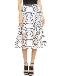 Nicholas Upper Echelon Ball Skirt - White/Black - Lyst