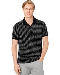 Calvin Klein Slim Fit Space Dye Stripe Polo Shirt - Lyst