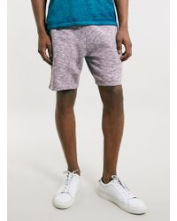 Topman Burgundy and White Mix Jersey Shorts - Lyst