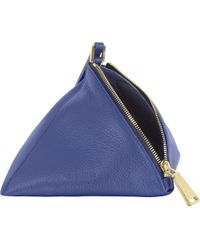 Jil Sander - Grained Leather 3Angle Clutch - Lyst