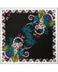 Emma J Shipley Lemur Printed Silk Scarf - Lyst