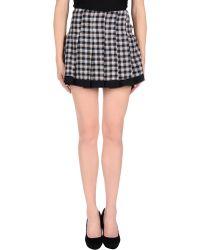 Aquascutum Mini Skirt - Lyst
