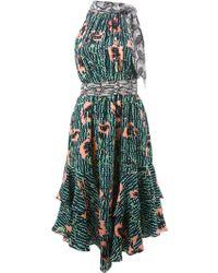 Matthew Williamson Mixed-Print Tie-Detail Dress - Lyst