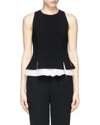 Elizabeth And James 'Kyra' Silk Chiffon Hem Crepe Tank Top - Lyst