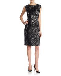 Nina Ricci Cascade-Ruffle Lace Dress - Lyst