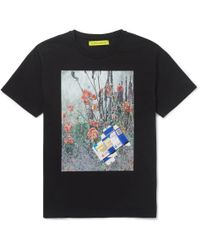 Raf Simons Sterling Ruby Printed Cottonjersey Tshirt - Lyst
