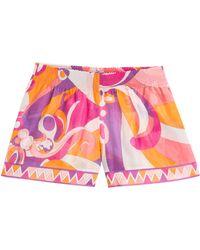 Emilio Pucci Cotton-Silk Printed Shorts - Lyst