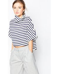 Wal-G - Shell Top With High Neck In Stripe - Lyst