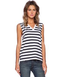 Theory Crelle Striped Tank - Lyst