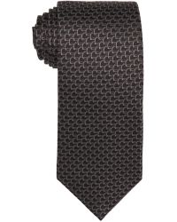 Gucci Grey Leaf Pattern Silk 'Donald' Tie - Lyst