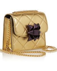 Marc Jacobs Trouble Mini Metallic Quilted Leather Shoulder Bag - Lyst