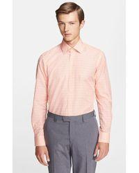 Etro Men'S 'Ippolito' Trim Fit Check Linen Woven Shirt - Lyst