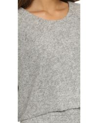 Nicholas - Boiled Knit Crop Jumper - Salt And Pepper - Lyst