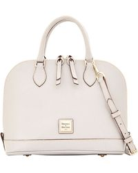 Dooney & Bourke Saffiano Zip Zip Satchel - Lyst