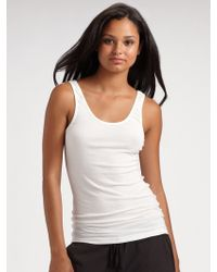 James Perse Ribbed Tank Top white - Lyst