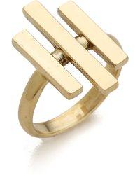 Pamela Love Axis Ring Brass - Lyst