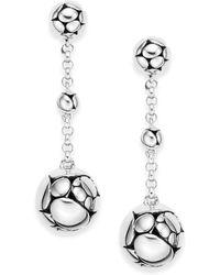 John Hardy Kali Sterling Silver Chain Drop Earrings - Lyst