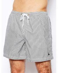 Jack Wills - Alshaya Swim Shorts Navy Stripe - Lyst