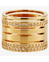 Vita Fede - Crystal Pila Band Ring: Gold - Lyst