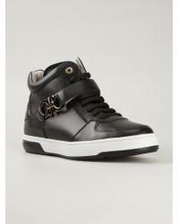 Ferragamo 'Nayon' Hi-Top Sneakers - Lyst