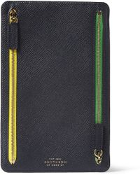 Smythson Panama Leather Currency Case - Lyst